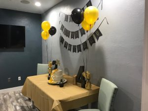 Another view of the meeting room, used for the cake.