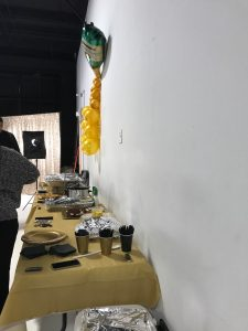 Buffet set up for the guest to eat.